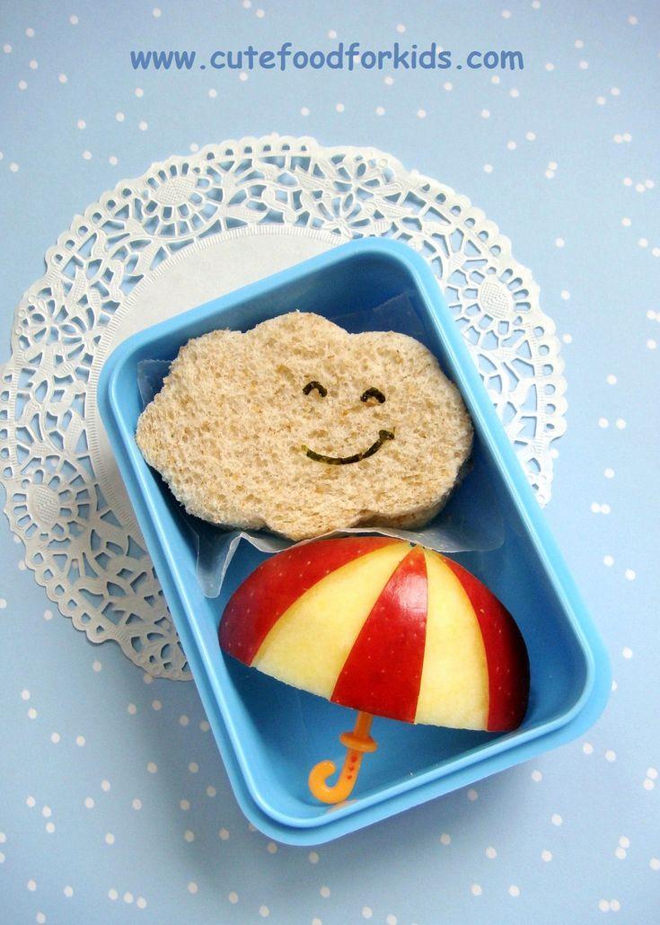 Cloud & Umbrella Bento Box for Kids