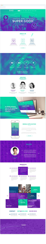Exio - responsive onepage concept  by Radek Jedynak, via Behance