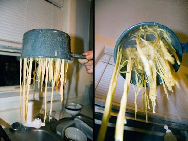 Some of the simplest tasks, like cooking pasta, just evade some people. | 21 Cooking Fails That Will Make All Good Cooks Cry//// WHAT DID YOU DO