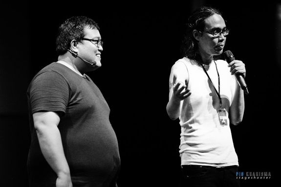 Sammy and Agus Noor (one of best screenplay writer in Indonesia)