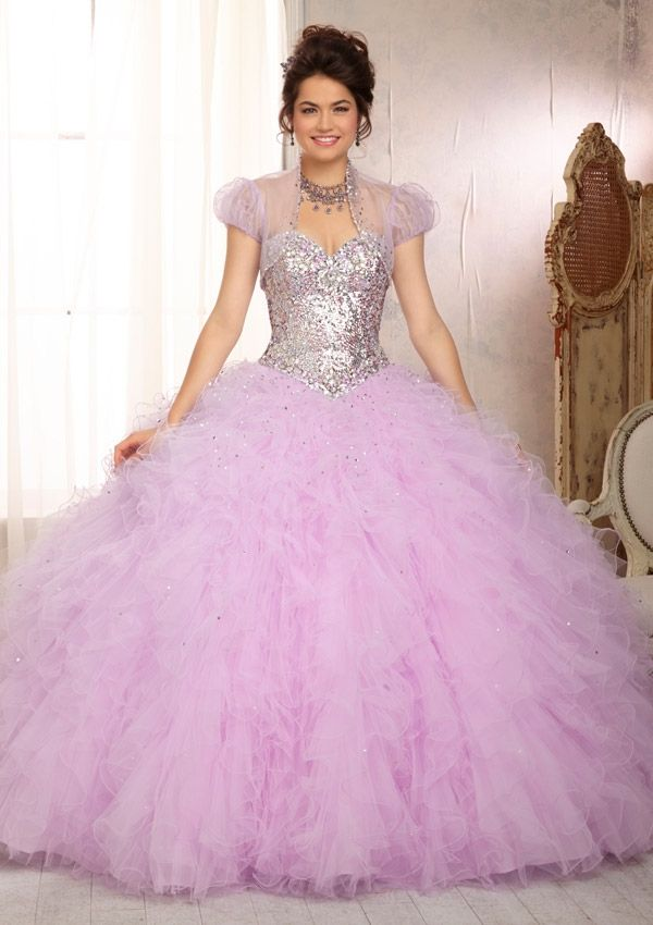 Quinceanera Gowns Style 88081: 88081 Elaborately Beaded Bodice with Ruffled Tulle Ball Gown Skirt http://www.morilee.com/quinceanera/quinceanera_vizcaya/88081