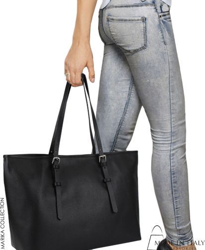 Marika Collection | MIA Made in Italy | Exclusive Black Leather Tote Bags for Women | Made in Italy Accessories https://madeinitalyaccessories.com/mia-handbags