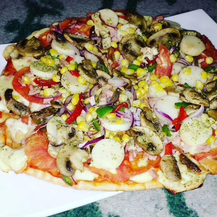 Pizza vegetariana.