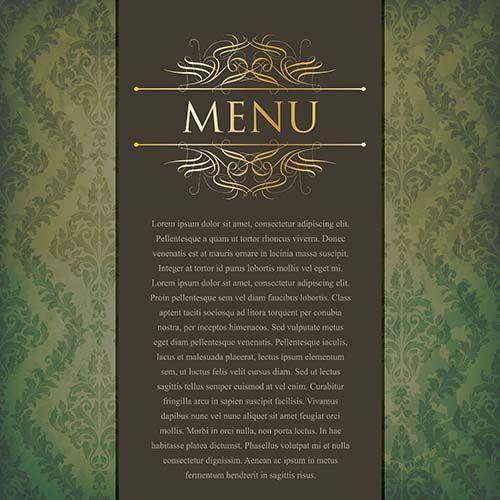 Темное старинное меню ресторана скачать