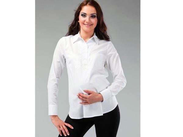 Белая рубашка для беременных