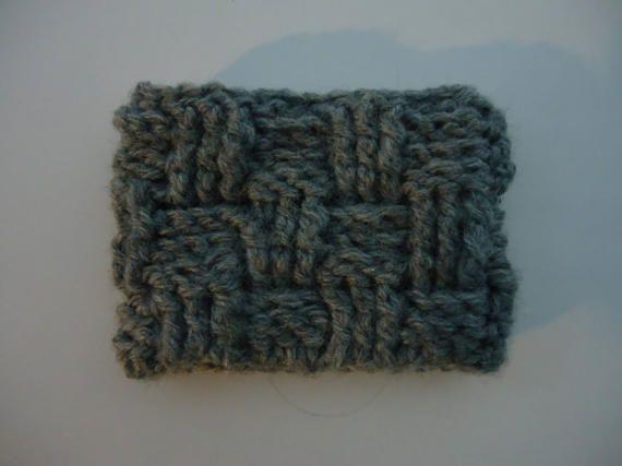 Basket weave coffee cozy
