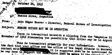 Hitler in Argentina after his fake death?