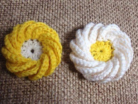 Вязаные цветы Урок 37 Free crochet flower pattern - YouTube