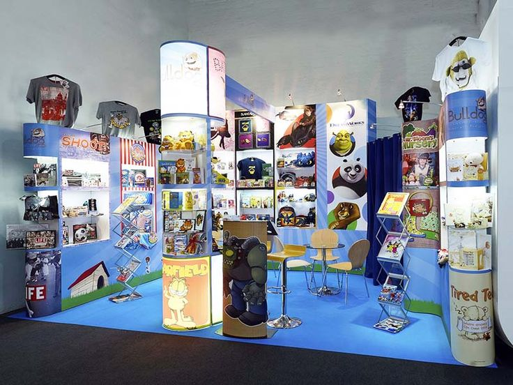 Stylish Exhibition Stall for Bulldog Licensing. EDS Middle East cater services to wide range of industries to promote their brands. Get a free design from us http://www.expodisplayservice.ae/FreeDesign.aspx