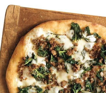 Sausages, Spinach and Pizza on Pinterest