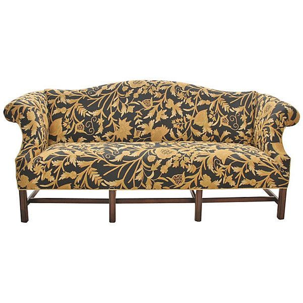 Popular Pre Owned Sheraton Embroidered Sofa liked on Polyvore featuring home
