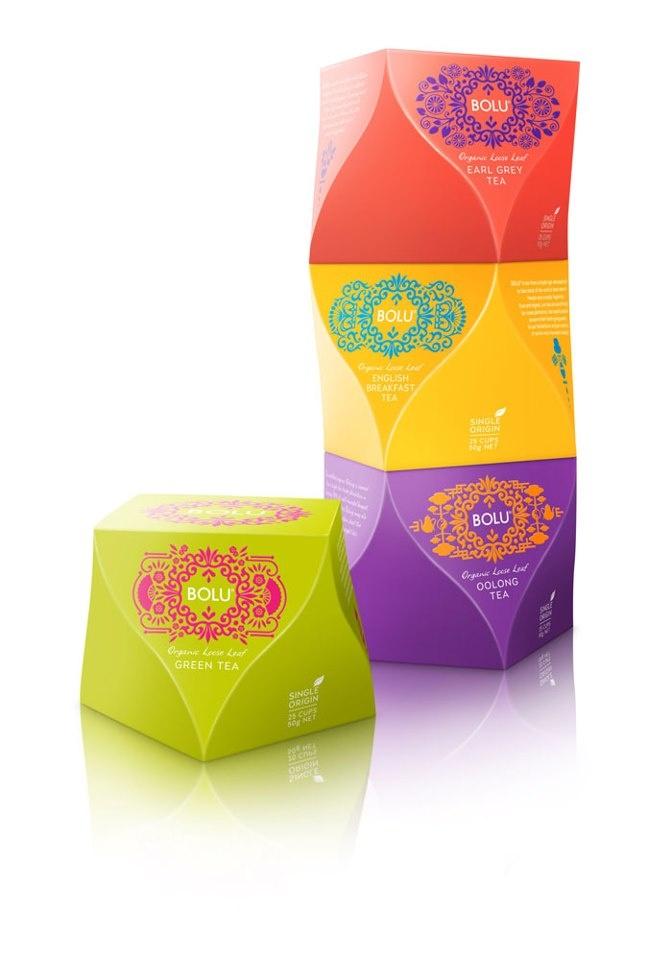 + Design de embalagem :     Um trabalho interessantíssimo da agência Curious Design, para a marca de chá Bolu.