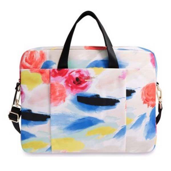 """Para las fashionistas. Que quieren transportar su laptop sin perder el glamour, esta bolsa de la firma Kate Spade es ideal. En ella cabe un ordenador portátil de hasta de 15"""" (38,10 cm). Está disponible en Nordstorm. Foto: nordstorm.com"""