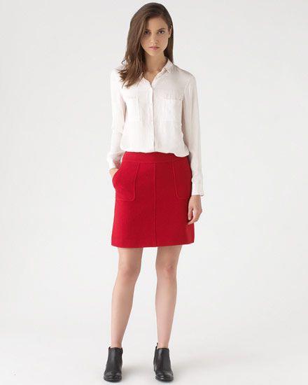 Soft Tweed A-line Mini Skirt #JigsawAW14