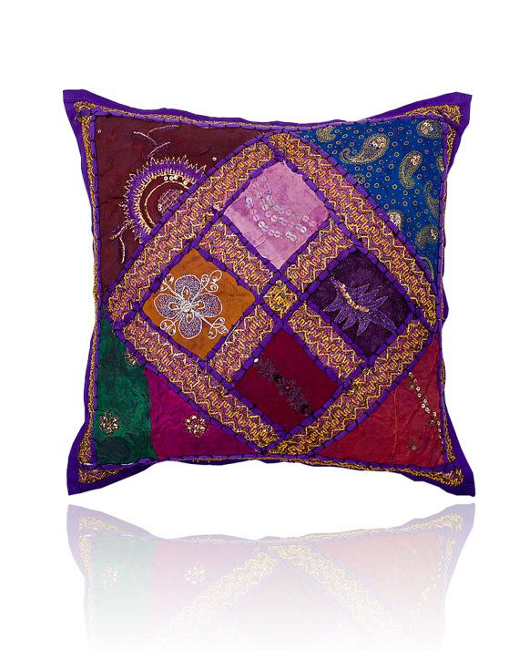 Multicolored Gypsy Throw Pillow for Couch by craftauraetsy on Etsy, $12.99