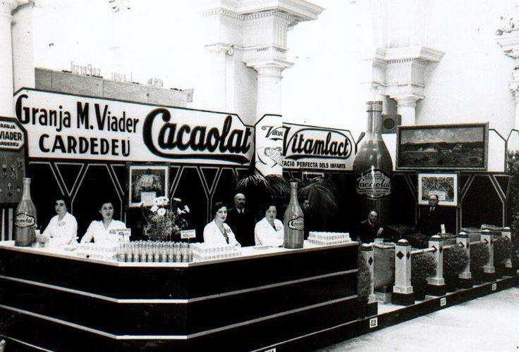 Presentació de Cacaolat a la fira de mostres de l'any 1933