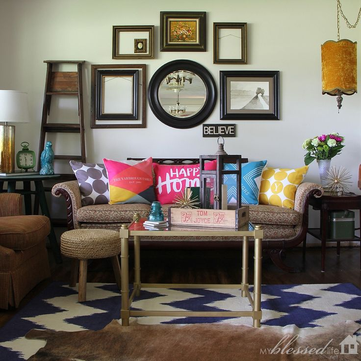 Colorful Happy Living Room