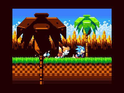 Sonic running dribbble