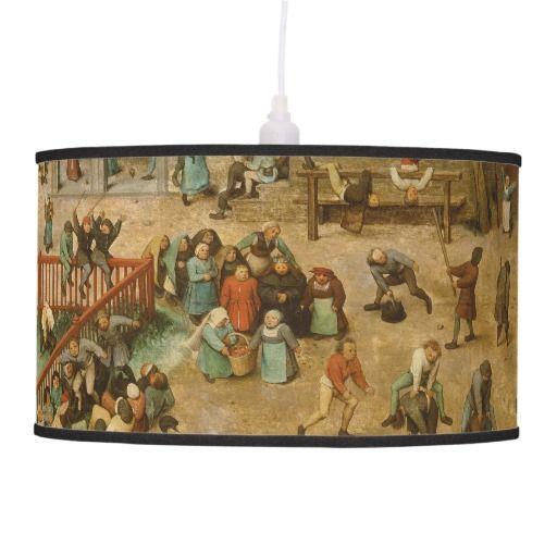 Pieter Bruegel the Elder - Children's Games Hanging Pendant Lamp