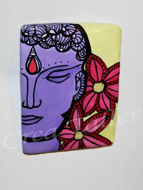 Imán hindú Técnica: papel maché + pintura acrílico
