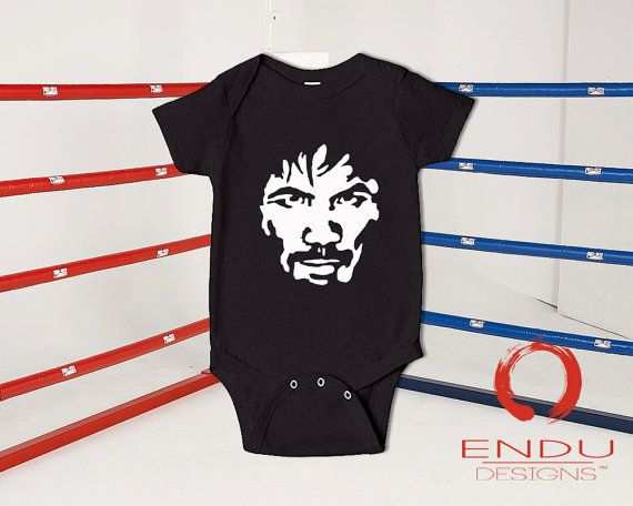 Boxing - Manny Pacquiao 8-Time World Champion - Infant Baby Babies Jumpsuit Onesie by ENDUdesigns