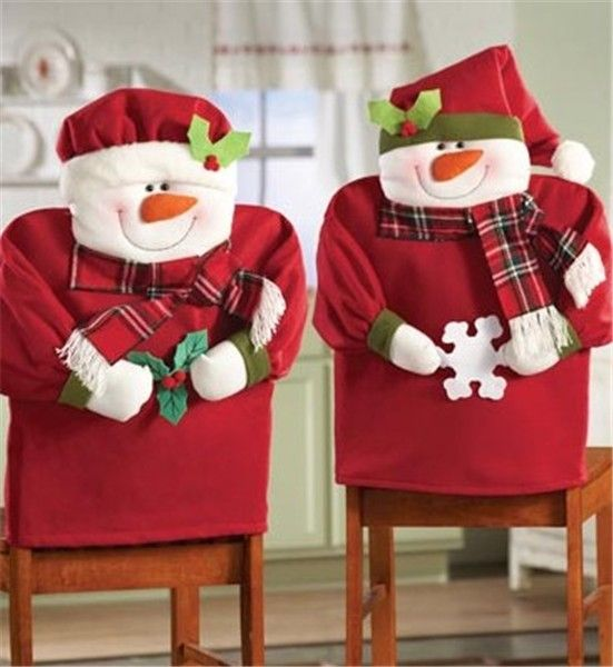 2013 Christmas chair cover set, Christmas scarf snowman chair cover, Christmas home decor #Christmas #chair #cover #set www.loveitsomuch.com