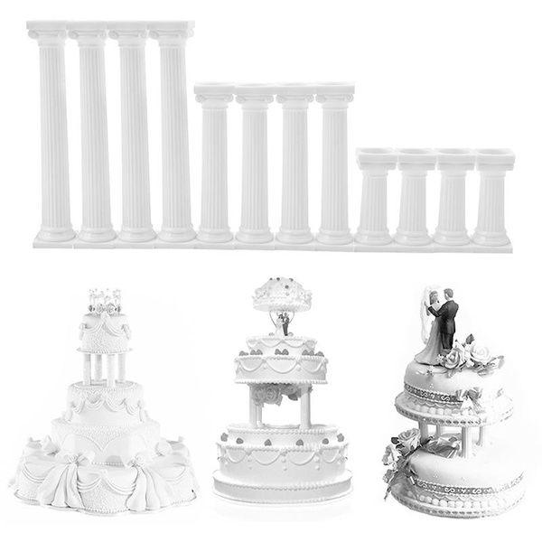 S M L White Roamntic Cake Decoration Tools Grecian Pillars Wedding Cake Stand Fondant Support Mold Valentine S Day In 2020 Wedding Cake Decorations Wedding Cake Stands Wedding Cakes