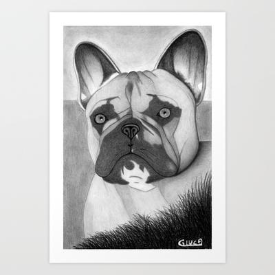 Bulldog Art Print by Lupo Solitario - $18.00