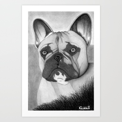 Bulldog Art Print by Lupo Solitario - $18.00