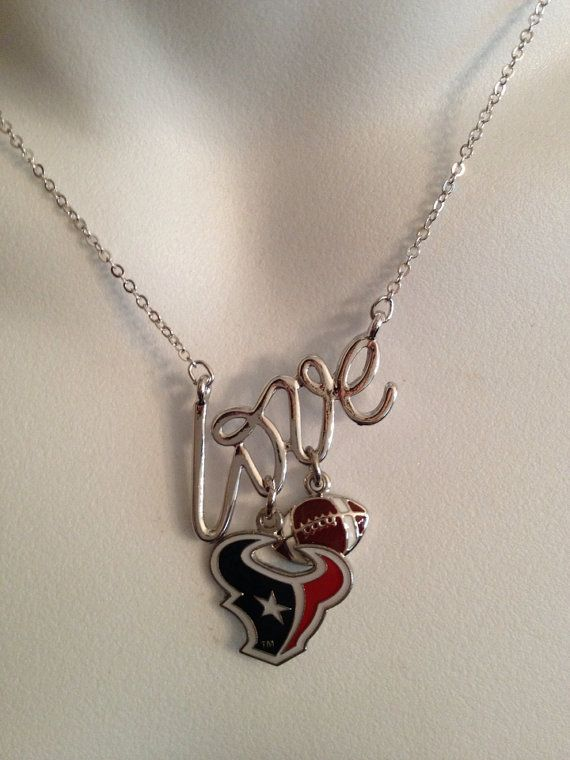 Houston Texans necklace   by Beckyschunkystuff on Etsy