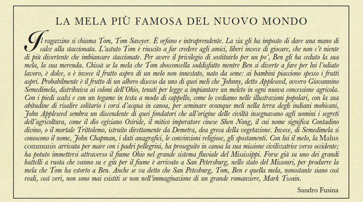 Dal 1995 i calendari illustrati da Franco Testa e descritti da Sandro Fusina sono piccoli capolavori che con entusiasmo offriamo ai nostri affezionati Clienti. Non sei riuscito ad averlo? Sfoglia le le bellissime illustrazioni on-line, mese per mese! http://www.erbolario.com/bacheca/articoli/tutti/272_calendario_2015_la_mela_pi_famosa_del_nuovo_mondo