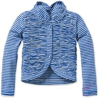 Oilily Girl Blue Grey Stripe Toela Jersey Cardigan  59$