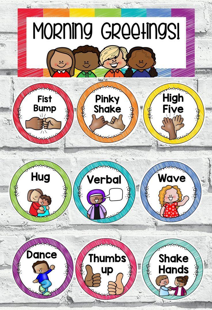 Social Distancing Greetings Classroom Preschool
