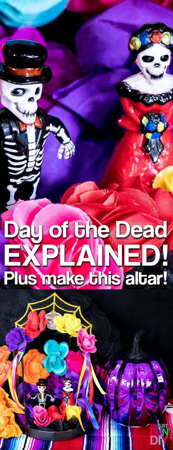 DIY Dia De Los Muertos Shrine for under $10! Explains the Day of the dead traditions, what elements you need for OFRENDAS, and how to make one.
