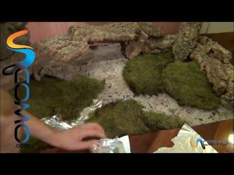 Cómo hacer una cascada real con salto de agua para el pesebre - YouTube