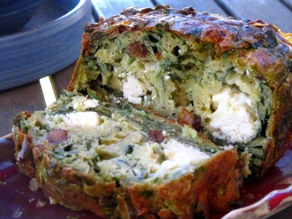 Cake grec aux épinards et fromages de brebis de l'Aveyron