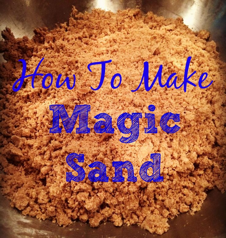 How to make magic sand. Sensory for kids.