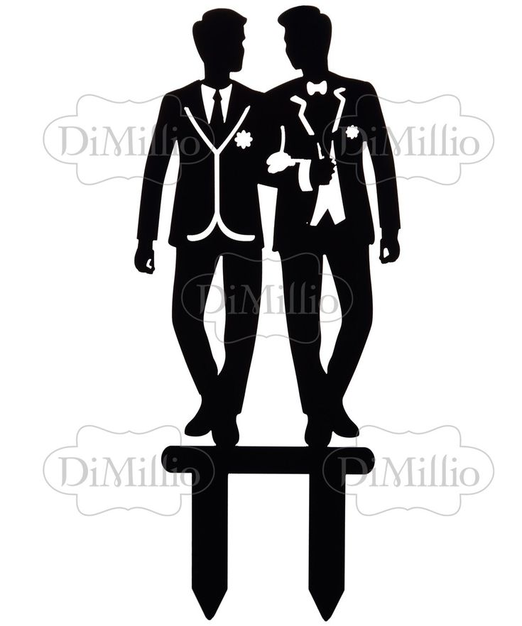 Gay Wedding Cake Toppers - Same Sex Marriage Cake Topper Grooms