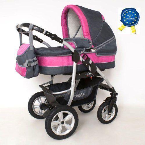 brand new coral baby pram 3in1 travel system car seat. Black Bedroom Furniture Sets. Home Design Ideas