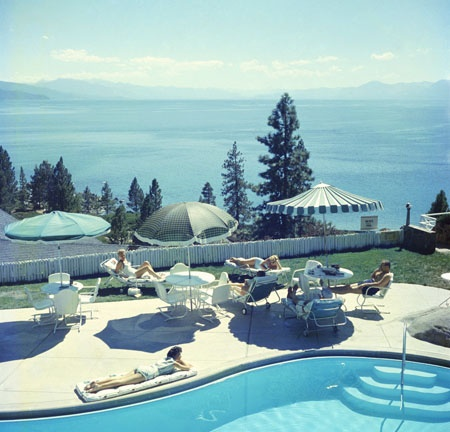 Photograph by Slim Aarons - available at Hamburg Kennedy Photographs. Look at that #blue #water!