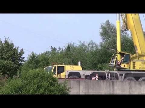 12,5 Millionen Brückentragbögen streichen T 2 Mobilkraneinsatz