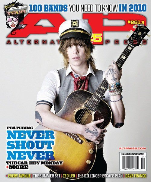 AP 261.3 // April 2010 // 100 Bands You Need To Know (Never Shout Never)