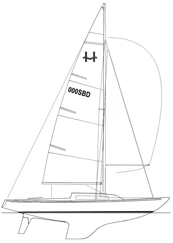 H-Boat drawing on sailboatdata.com