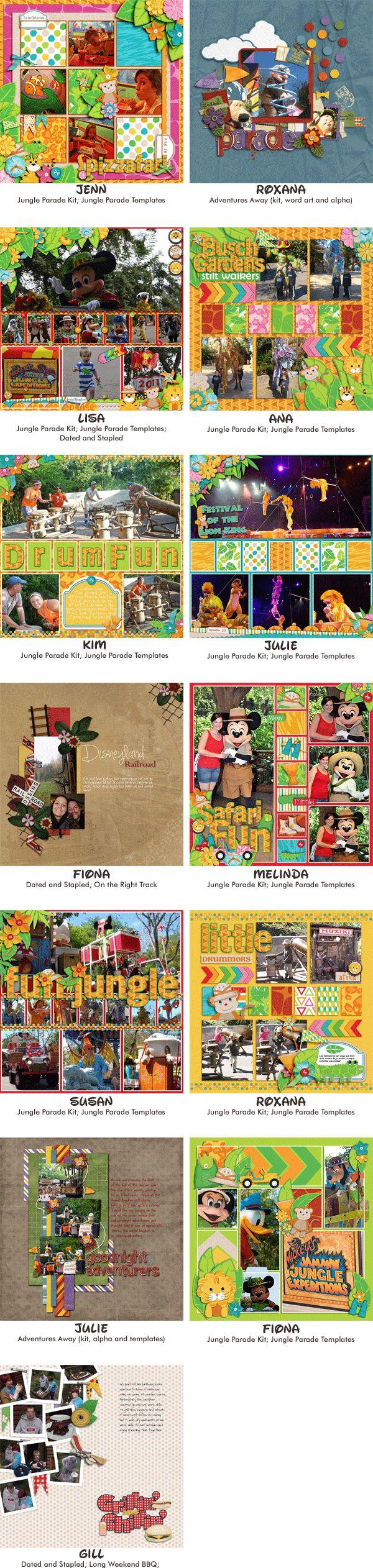 Jungle scrapbook ideas - Via Mouse Scrappers