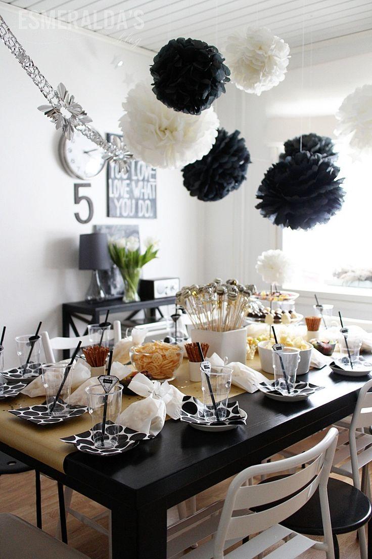 77 best Black White kids party images on Pinterest Dessert