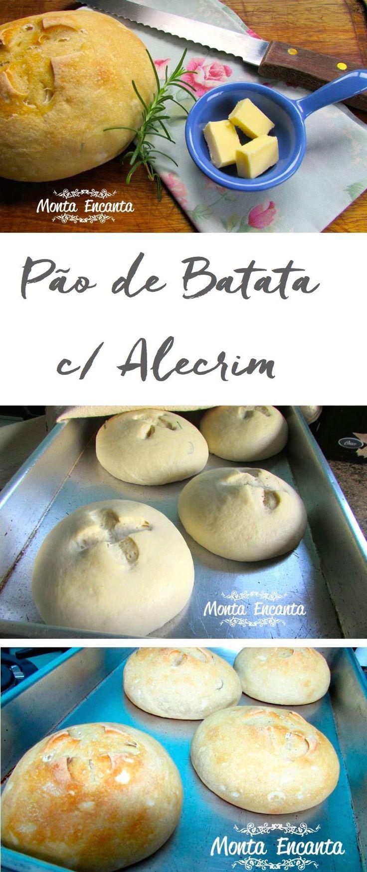 Para hoje eu trago pão de batata com alecrim, essa receita da Julice Vaz, que eu conheci através da Revista Casa e Comida que eu amo!