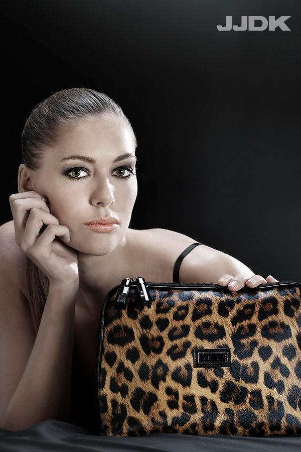 JJDK Cosmetic bag, leopard, roomy and functional