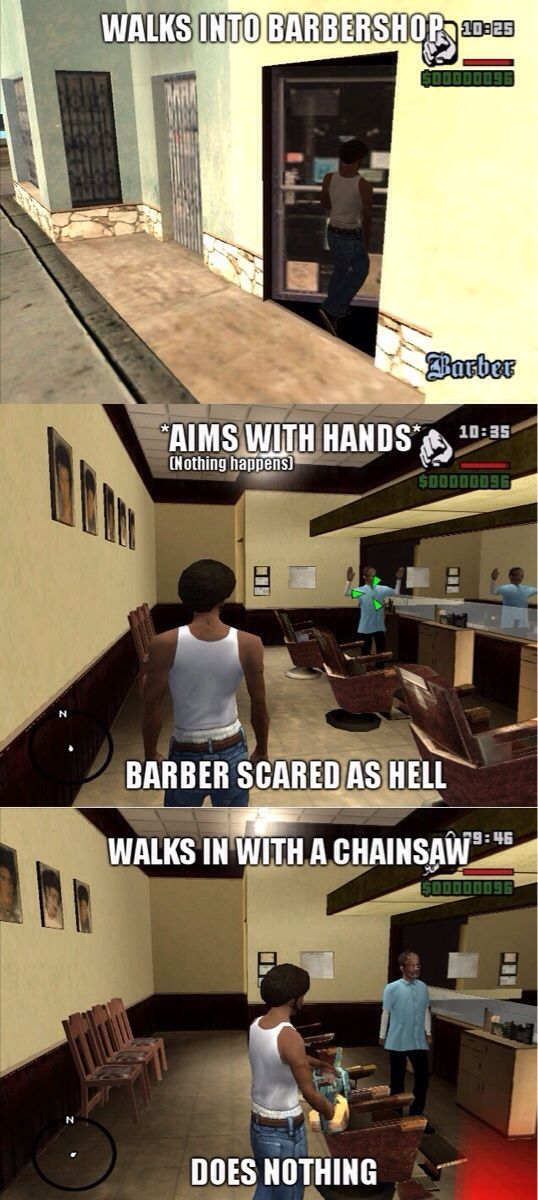 Fun #GTA San Andreas Logic via Reddit user DatNick1988