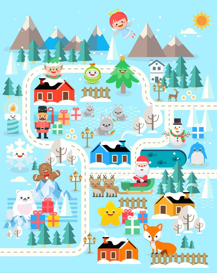 Xmasland Christmas characters design on Behance