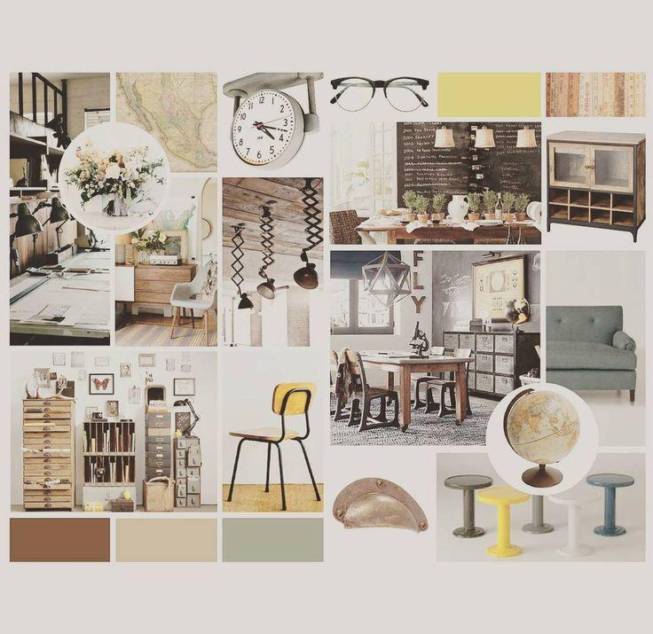 #industrial #vintage #schoolhouse #moodboard #inspiration #industrialdesign l Proceso de diseño: conceptualizando l